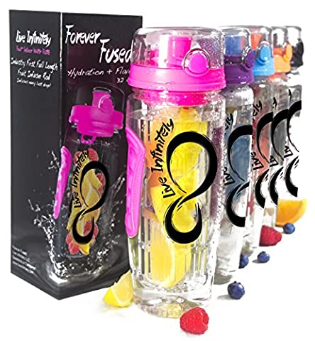 Live Infinitely 32 oz. Infuser Water Bottles - Featuring a
