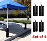 LIVIVO Set of 4 Gazebo Sand Weights Gazebo Sandbags- Inc Twin-leg Zip Top Sand Bag Weights For Anchoring Gazebos, Tents, Sun Shades, Trampolines & Kids Garden Toys Many More