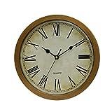 BESTOMZ Wanduhr mit verstecktem sicher Vintage Uhr Schlarfzimmer Wohnzimmer Geld Schmuck Organizer Aufbewahrung (Bronze)