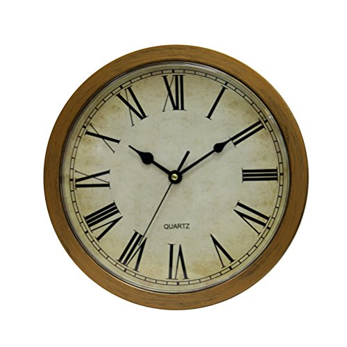 Bestomz reloj de pared Vintage caja fuerte gran secret joyas relojes de seguridad plata Cash compartimento...