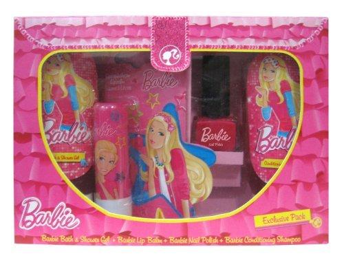 Barbie Exclusive Pack (Bath and Shower Gel 50ml + Conditioning Shampoo 50ml + Lip Balm + Nail Polish)