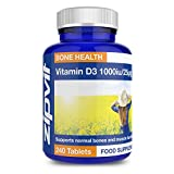 Vitamin D3 1000iu 25mcg | 240 Tablets | Maintains Bone & Muscle Function | Supports the Immune System from Zipvit