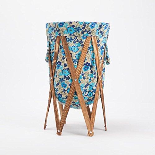 Xuan - worth another Grünes und blaues Blumenmuster-Textilbrown-Stent ändern Kleidungs-Körbe Speicher-Korb-Tuch Badezimmer mit Wäschekorb falten den Korb Badezimmer-speicher-körbe