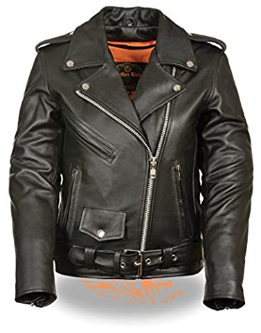Milwaukee Leather Ladies Classic Style Motorcycle Jacket w/ Zip Out Liner (XX-Large) (X-Large)