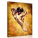 """Bilderdepot24 Bild auf Leinwand """"Frau Zeichnung"""" ( Vintage ) 30x40cm - fertig gerahmt, direkt vom Hersteller"""