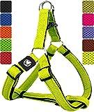 DDOXX Hundegeschirr Step-In Air Mesh in vielen Farben & Größen für kleine, mittelgroße & große Hunde | Geschirr Hund klein groß verstellbar | Brustgeschirr Welpen Auto | Gelb, L