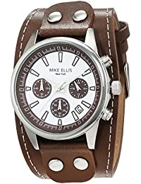 Mike Ellis New York Herren-Armbanduhr XL Chronograph Quarz Leder SL4-60223