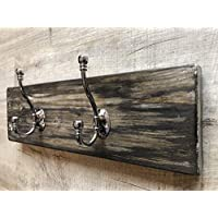 Unique hand painted solid wood coat hook