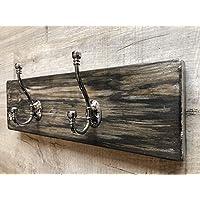 Unique hand painted solid wood coat hook