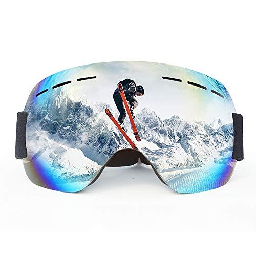 BSET BUY Skibrille Snowboard-Schutzbrillen Draussen Sport Brille für Brillenträger Herren Damen Erwachsene Jugendliche OTG UV-Schutz Kompatibler Helm Anti Fog Skibrillen Sphärisch Verspiegelt