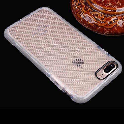 Hülle für iPhone 7 plus , Schutzhülle Für iPhone 7 Plus Plaid Texture Transparente TPU Schutzhülle ,hülle für iPhone 7 plus , case for iphone 7 plus ( Color : Grey ) Grey