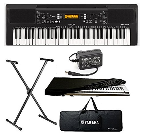 yamaha keyboard 61 Keys Touch Sensitive Keyboard with Stand, Adapter, Bag & Dust Cover Combo Pack