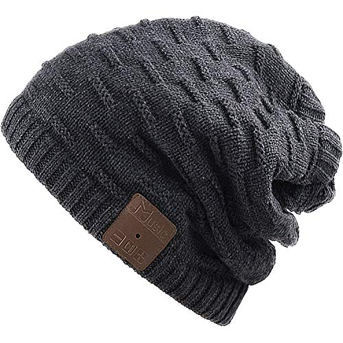 Rotibox Waschbar Winter-Unisex Hat Bluetooth Beanie Short Skully Cap mit  Bluetooth-Stereo- d5fd6ea12b0d
