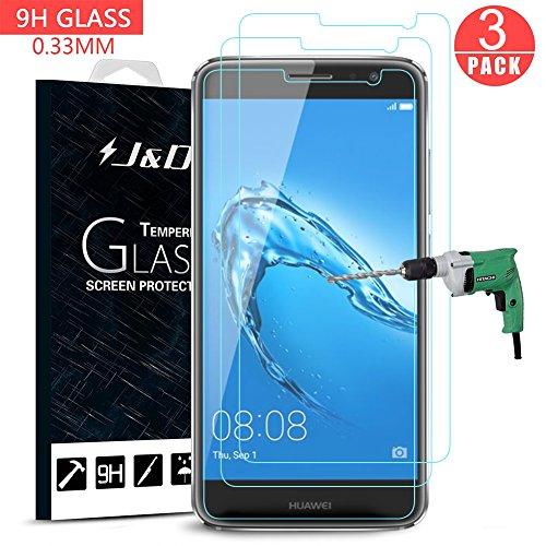 Huawei Nova Plus Protector de Pantalla (3 Paquetes), J&D [Cristal Templado] HD...