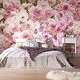 Murale Romantico Rosa Rosa Fiore Sfondo Murales Matrimonio Casa Soggiorno Home Decor Foto Wallpaper Murale Floreale 3D-360 * 280cm