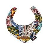MagiDeal Haustier Hunde Katze Einstellbar Mode Lätzchen Halsband Halstuch / Dreieckig Bandana aus Baumwoll, Nummer Form - Punk, S