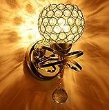 IACON LED 5W Kristall Wandleuchte Gold Wandlampe lampenschirm Wandbeleuchtung Warmweiß Wandstahler Bad Schlafzimmer Wohnzimmer Arbeitszimmer Hotel Korridor landhaus Innen beleuchtung
