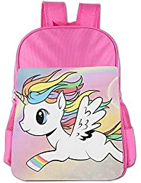 Rainbow Unicorn Kid School Bag For 4-15 Years Old Child ShoulderBookbag Pink For Boys And Girls