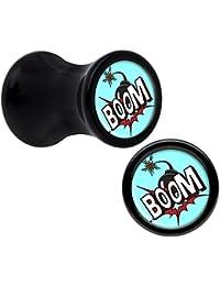 Negro Acrílico Auge De Va la bomba de Dilatador Par 4 Calibre