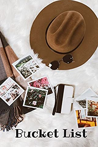 Bucket List: Hat & Sunglasses Travel, Bucket List Journal, Checklist, Ideas, Goals, Dreams & Deadlines, Travel Book, Notebook