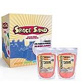 Leo & Emma Space Sand Set Sabbia Modellabile per bambini 50 Stampini Sabbia cinetica Crea Fantastici Dolci