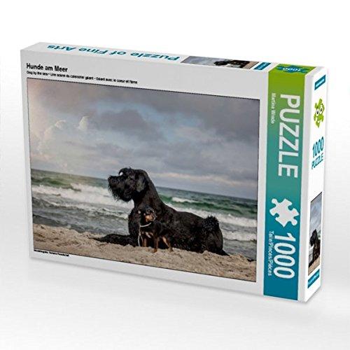 Hunde am Meer 1000 Teile Puzzle quer (CALVENDO Tiere) (Beschützer Planer)
