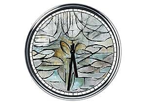 Orologio Mondrian - melo in fiore