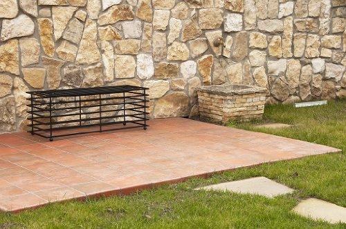 DanDiBo Bank Futura Modern Gartenbank 11670 Sitzbank 110 cm aus Metall Eisen Blumenbank - 7