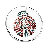 Akki Magnet Brosche Schmuck Anhänger Stern Design mit Strass für Kleidung, Schals, Tücher und Ponchos Damen Magnetschmuck Baum des Lebens Ponchos Blume Magnet-Pin Kleider Farben Silber Poncho Wert #1