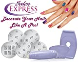 #9: Gadget Hero's Salon Express Nail Polish Art Decoration Stamping Design Kit Decals Paint Stamp