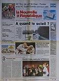 NOUVELLE REPUBLIQUE [No 16264] du 20/04/1998 - TOUJOURS PLUS PAR GERBAUD - LES SPORTS / DJAMEL BOURAS ET LE DOPAGE - MOTO AVEC DELETANG - 39EME TOUR DE LOIR-ET-CHER - PHILIPS ECLAIRAGE A CHOISI LE VERT - FAUNE SAUVAGE - RECONCILIER CHASSE ET AGRICULTURE -