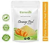 Elemensis Naturals 100% Pure & Natural Orange Fruit Peel Organic Powder for Skin Whitening - 100gm