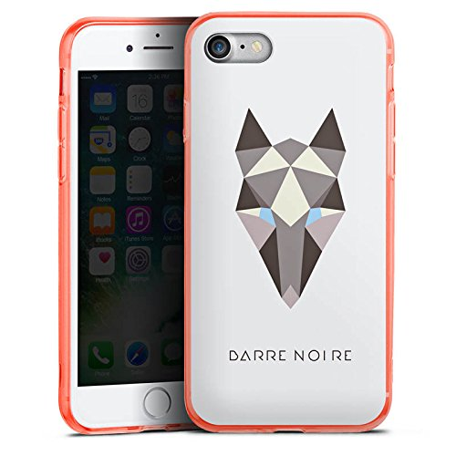 Apple iPhone 7 Silikon Hülle Case Schutzhülle Fuchs Muster Fox Silikon Colour Case neon-orange