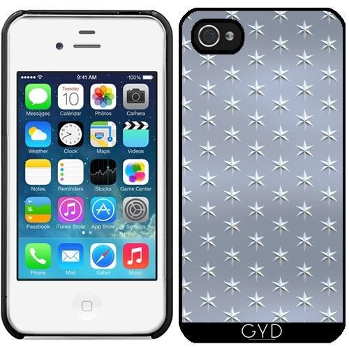Leder Flip Case Tasche Hülle für Apple iPhone 5C - Silbrig Glänzende Sterne Muster by Andrea Haase Starre Kunststoff