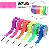 E-More UV Schwarzlicht Reaktivband, fluoreszierende Gewebebänder, selbstklebendes Gaffer-Band, Glow-In-Dark-Band für Partybedarf