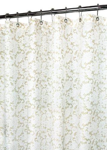 Park B. Smith Viktorianische Spitze Vorhang für die Dusche, weiß/Silber, Polyester, Weiß/Taupe, 72 by 72 -