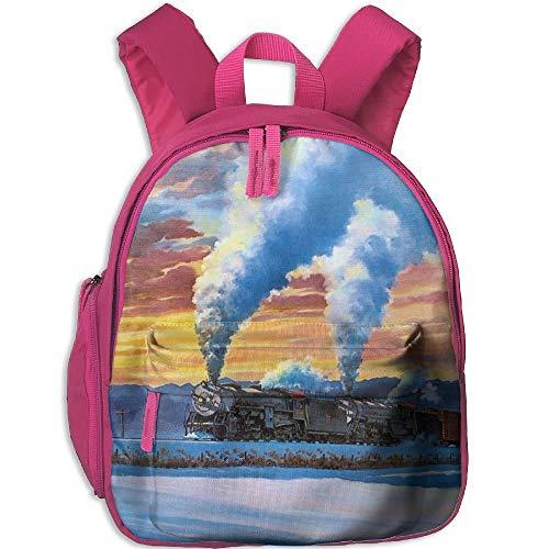 Kindergarten Boys Girls Backpack Train School Bag