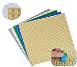 Modbrix 5 STÜCK Bausteine Grundplatte, 32 x 32 Noppen Bauplatte Platten, 25.5 x 25.5 cm in Verschiedenen Farben