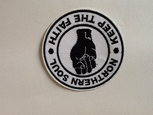 Price comparison product image Northern Soul Keep The Faith Black & White Patch