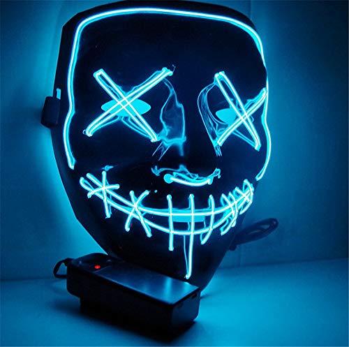 Ytdzsw Halloween Maske LED Leuchten Party Masken Die Reinigung Wahl Jahr Große Masken Festival Cosplay Kostüm Liefert Glow In Dark (In Dark Skelett Kostüm Kinder Glow The)