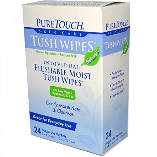 Puretouch Tush Wipes Flushable (1x 24 Wipes) -