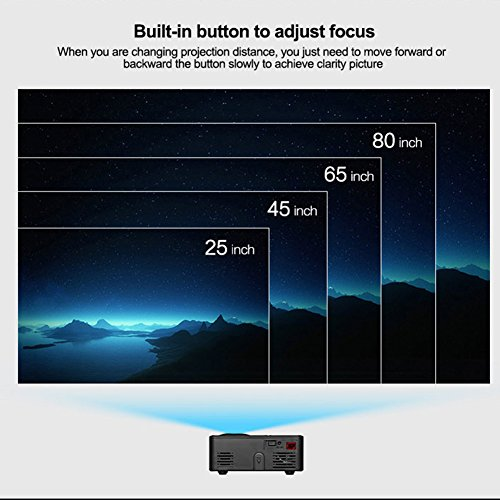 elegantstunning Mini Home LED Theater Projectors Multimedia Video Projector