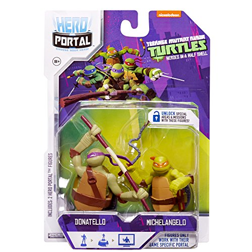 Teenage Mutant Ninja Turtles, Hero Portal Booster Pack, Donatello and Michelangelo, 2-Pack