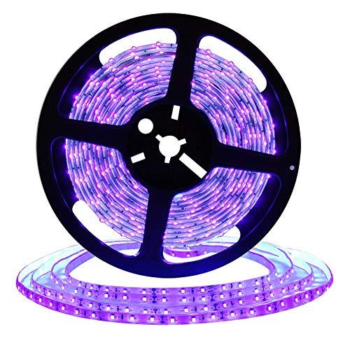 DeepDream UV Schwarzlicht Led Streifen 10M mit 12V 4A Netzteil/32.8ft 2835 SMD IP65 Wasserdicht 600 Stück, UV LED Strip LichtBand Leiste Band[Energieklasse A+]