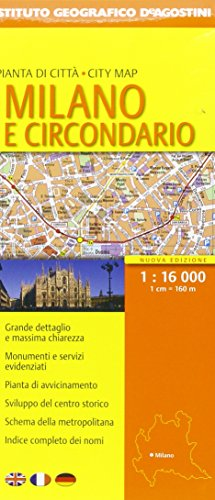 Milano e circondario 1:16.000 (Piante di città d'Italia) por aa.vv.