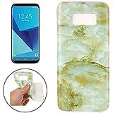 Samsung Galaxy S8 Marmor-Hülle grün [ TPU Case Marmormuster Optik ] Smartphone Schutzhülle Cover Marble Muster Marmor Design   Movoja®   grün-Marmor