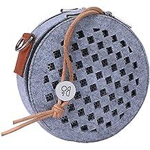 Hensych® pour BeoPlay A1B & O PLAY enceinte Feutre doux de transport Coque Haut-parleur sans fil Bluetooth de voyage Boîte de rangement gris