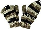Guru-Shop Handschuhe, Klapphandschuhe, Herren/Damen, Mehrfarbig, Synthetisch, Size:One Size, Handschuhe aus Wolle Alternative Bekleidung