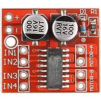 haljia L298N controlador de velocidad PWM Motor de corriente continua de doble canal Junta Dual H-Bridge motor paso a paso módulo