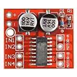 HALJIA Dual Channel L298N PWM Speed DC Motor Driver Board Dual H-Bridge Stepper Motor Module
